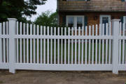 Local Fence recently installed this fence in Methuen Mass. We also repair and install fencing in many cities and towns in Northeastern Massachusetts as well as south eastern New Hampshire